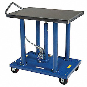 "Portable Hydraulic Lift Table, 2000 lbs., Platform Width 24"", Platform Length 36"""
