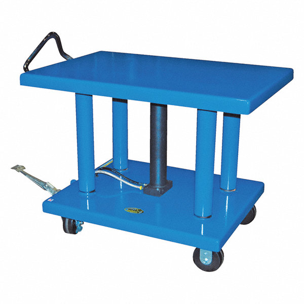 Small Hydraulic Lift Table : Grainger approved mobile manual lift push