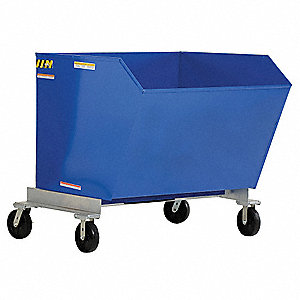 Portable Hopper, 1/2 cu. yd. Volume Capacity, 2000 lb. Load Capacity, Forkliftable Hopper Type