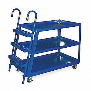 Stock Picking Ladder Cart, 1000 lb. Load Capacity