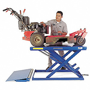Stationary Electric Lift Scissor Lift Table, 4400 lb. Load Capacity, Lifting Height Max. 39-7/16""