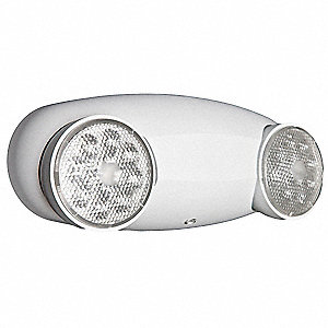 "10-1/4"" x 2-3/4"" x 4-1/4"" LED Emergency Light, Ceiling/Wall Mounting"