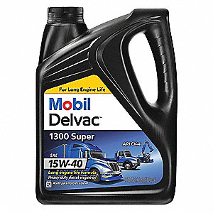 Conventional Diesel Engine Oil, 1 gal. Jug, SAE Grade: 15W-40, Brown