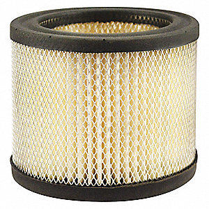 "Air Filter, Round, 3-5/32"" Height, 3-5/32"" Length, 4"" Outside Dia."