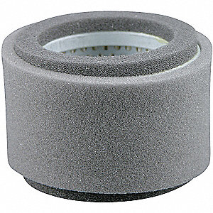 "Air Filter, Round, 2-3/8"" Height, 2-3/8"" Length, 3-17/32"" Outside Dia."