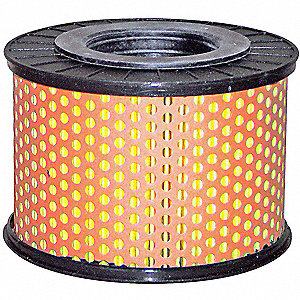 "Air Filter, Round, 3-3/32"" Height, 3-3/32"" Length, 4-15/32"" Outside Dia."