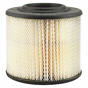 "Air Filter, Round, 4-1/8"" Height, 4-1/8"" Length, 4-3/16"" Outside Dia."