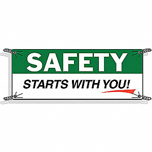 BANNERS SAFETY 10FT X 3.5FT