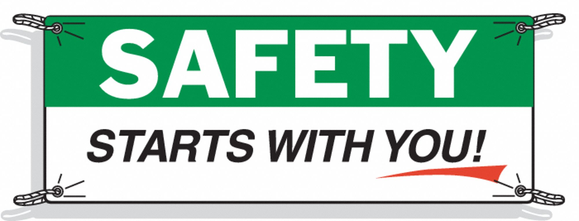 Safety Banner,  Safety Banner Legend Starts With You!,  48 in x 120 in,  English
