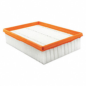 "Air Filter, Panel, 2-5/16"" Height, 9-21/32"" Length"