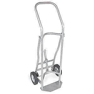 Steel Medical Cylinder Cart, 500 lb. Load Capacity, Semi-Pneumatic Wheel Type