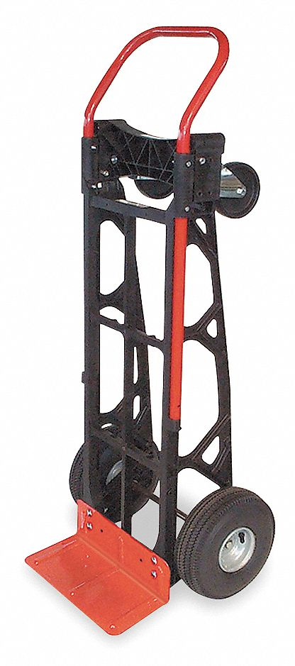 Convertible Hand Truck,  Load Capacity as Hand Truck 600 lb,  Load Capacity as Platform Truck 600 lb