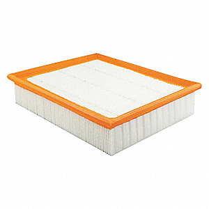 "Air Filter, Panel, 2-3/16"" Height, 10-1/8"" Length"