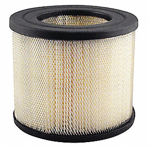 "Air Filter, Round, 4-23/32"" Height, 4-23/32"" Length, 5-1/2"" Outside Dia."