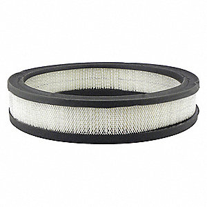 "Air Filter, Round, 1-7/8"" Height, 1-7/8"" Length, 9-11/16"" Outside Dia."