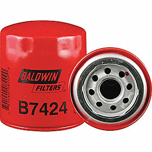 "Spin-On Oil Filter, Length: 4-7/16"", Outside Dia.: 3-11/16"", Micron Rating: 18"