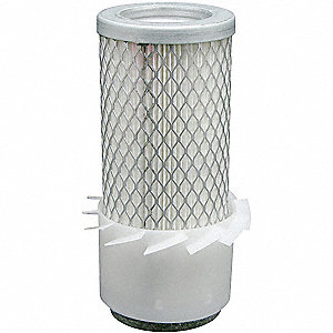 "Air Filter, Round, 6-1/32"" Height, 6-1/32"" Length, 4-3/32"" Outside Dia."