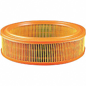 "Air Filter, Round, 4-3/16"" Height, 4-3/16"" Length, 13-23/32"" Outside Dia."