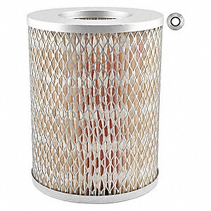 "Air Filter, Round, 6-23/32"" Height, 6-23/32"" Length, 5-1/4"" Outside Dia."