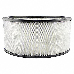 "Air Filter, Round, 5-7/16"" Height, 5-7/16"" Length, 11-13/16"" Outside Dia."