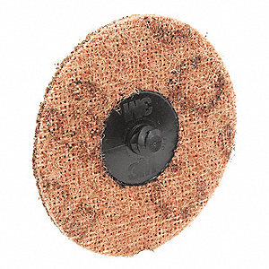 "3"" Non-Woven Quick Change Disc, TR Roll-On/Off Type 3, Coarse, Aluminum Oxide, 1 EA"
