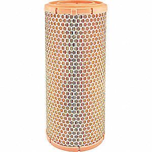 "Air Filter, Round, 13-17/32"" Height, 13-17/32"" Length, 6-3/32"" Outside Dia."