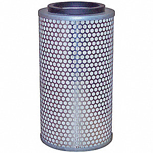"Air Filter, Round, 9-1/4"" Height, 9-1/4"" Length, 4-15/16"" Outside Dia."