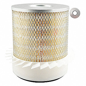 "Air Filter, Round, 9-3/8"" Height, 9-3/8"" Length, 7-15/16"" Outside Dia."