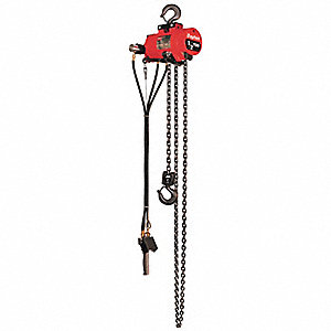 Air Chain Hoist,1000 lb. Cap.,10 ft. Lft