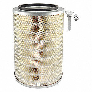 "Air Filter, Round, 11-1/2"" Height, 11-1/2"" Length, 8-9/32"" Outside Dia."