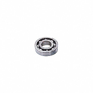 Radial Ball Bearing, Open Bearing Type, 45mm Bore Dia., 100mm Outside Dia.