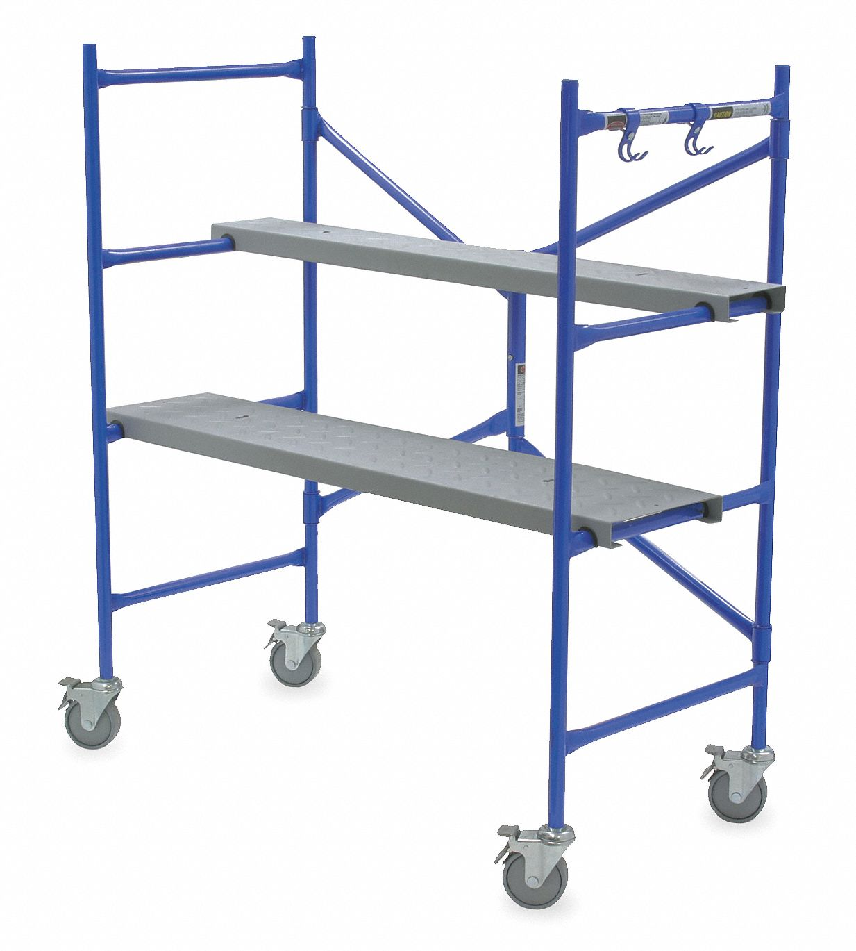 Portable Scaffold, Aluminum, 3 ft 8 in Platform Height, 4 ft Overall Height, 500 lb Load Capacity