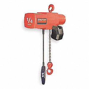 H4 Electric Chain Hoist, 500 lb. Load Capacity, 460V, 15 ft. Lift, 0 to 16 fpm