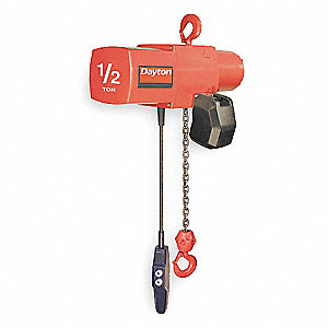 H4 Electric Chain Hoist, 1000 lb. Load Capacity, 460V, 20 ft. Lift, 0 to 16 fpm