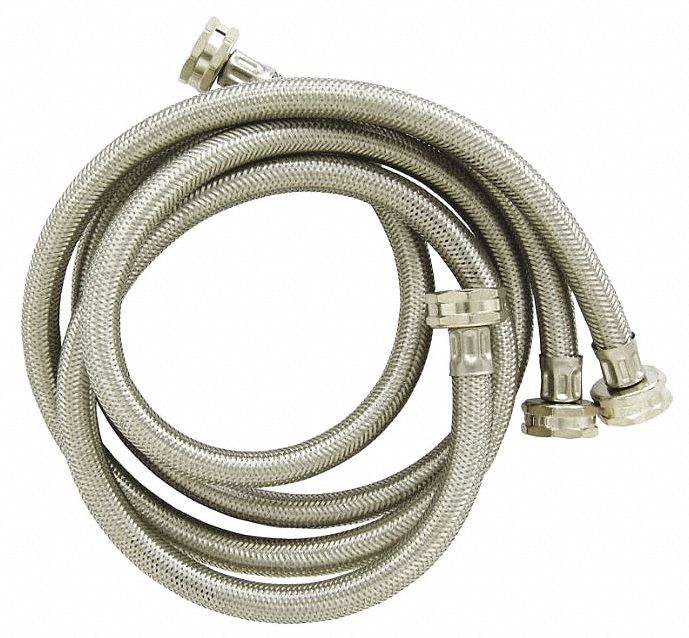Hose, 4 ft., Stainless Steel,  Fits Brand Multiple,  PK 2