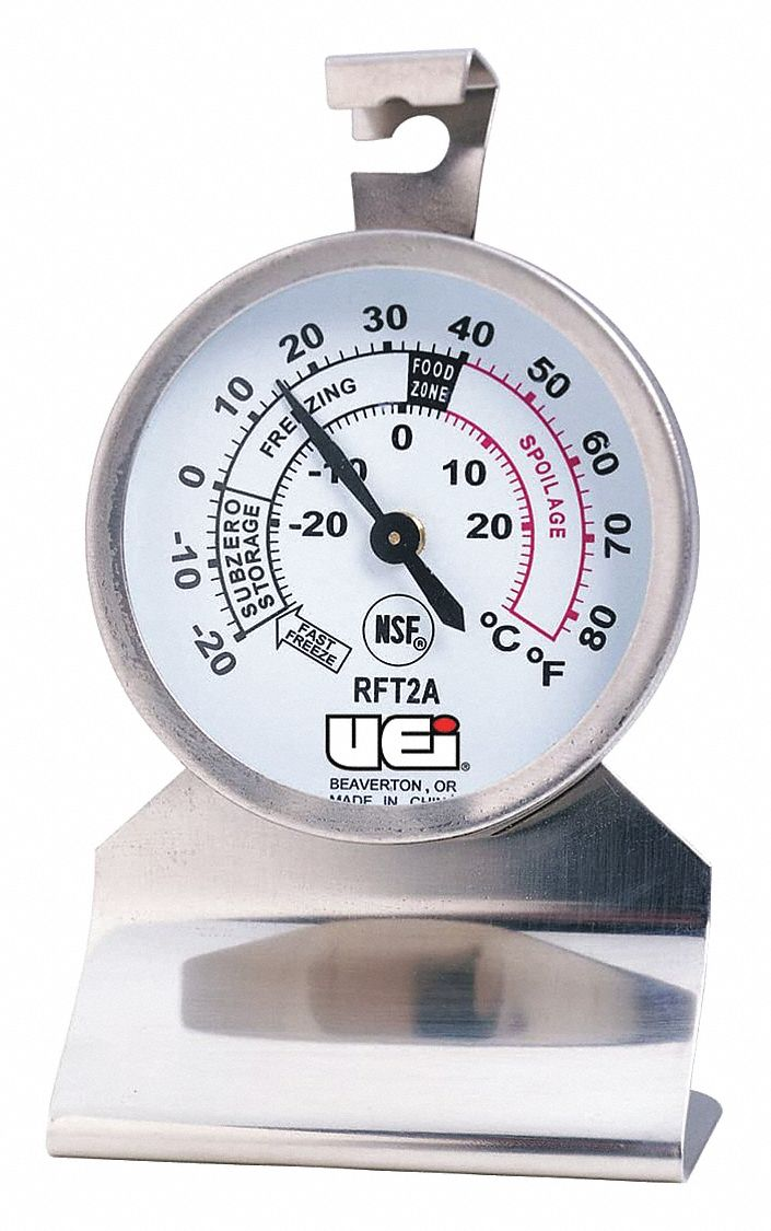 Refrigerator Thermometer, -20 Degrees  to 80 Degrees F,  Fits Brand Multiple