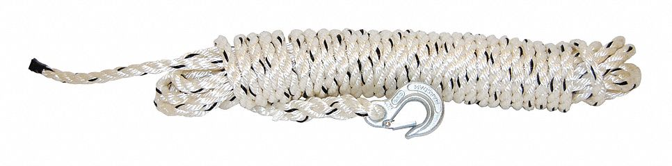 "Rope with Hook, 1/2"" x 50 ft."