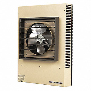 Electric Unit Heater, Wall or Ceiling, 480VAC, 25.0 kW, 3 Phase