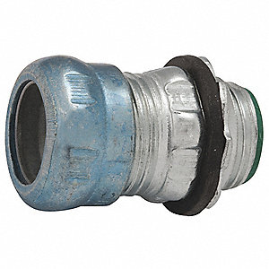 "Compression Connector,1-51/64"" L,Steel"