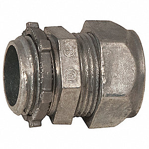 "1"" EMT Compression Connector, 1-33/64"" Overall Length"