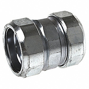 "1/2"" IMC, Rigid Compression Coupling, 1-13/32"" Overall Length"