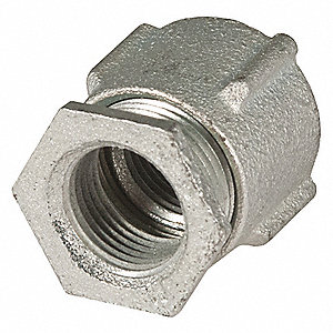 "Three Piece Coupling,1-3/8"" L,1"" Conduit"