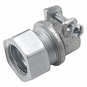 "1/2"" x 3/8"" EMT Combination Coupling, 1-5/16"" Overall Length"