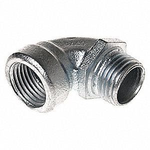 "Elbow 90 deg,3/4"" Conduit,Malleable Iron"