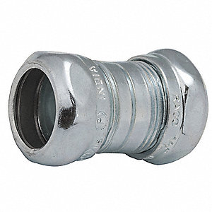 "1-1/4"" EMT Compression Coupling, 3-5/16"" Overall Length"