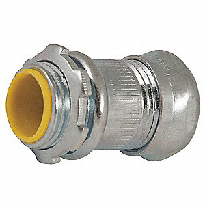 "Compression Connector,1-29/32"" L,Steel"
