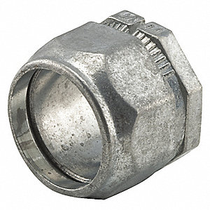 "1/2"" EMT Connector, Two-piece, 1-5/64"" Overall Length"