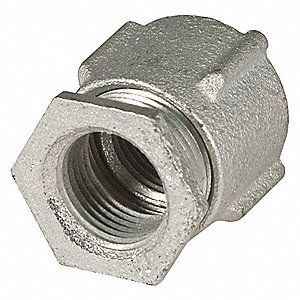 "1-1/2"" Threaded IMC, Rigid Coupling, Three-piece, 2-17/64"" Overall Length"