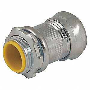 "1-1/2"" EMT Compression Connector, 2-1/4"" Overall Length"