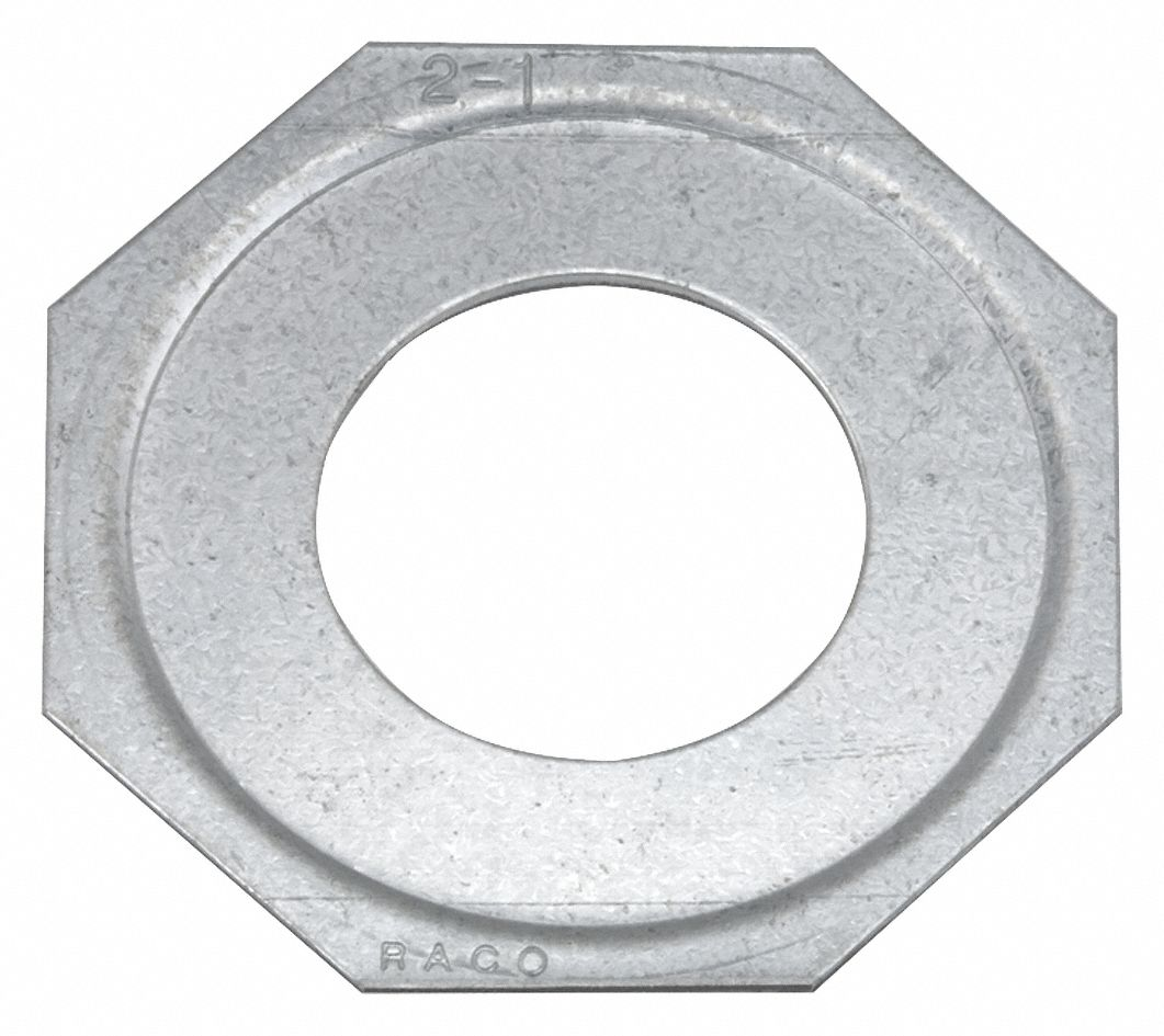 Reducing Washer,  Installation Accessories,  Steel,  Silver,  For Use With Fittings and Enclosures